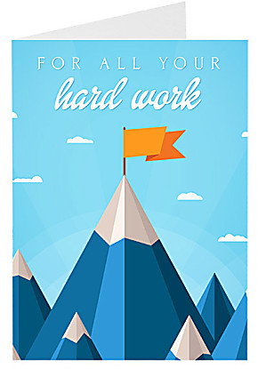 Greeting card For all Your Hard Work