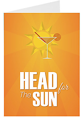 Greeting card Head For the Sun