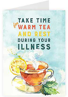 Greeting card Take Time for Warm Tea and Rest