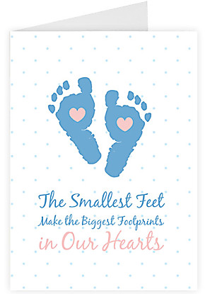 Greeting card The Smallest Feet