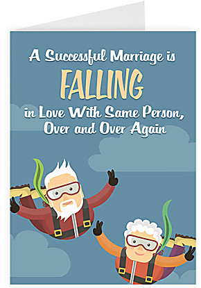 Greeting card A Successful Marriage is...