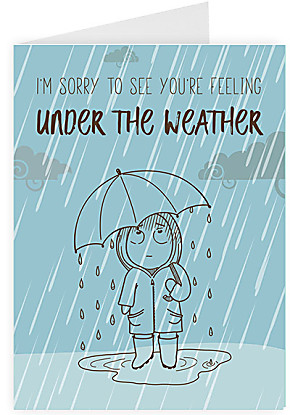 Greeting card Under the weather