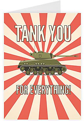 Greeting card Tank you for everything