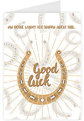 Greeting card Good luck - Horse shoe
