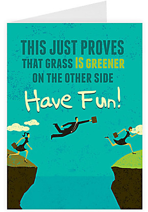 Greeting card Grass is greener
