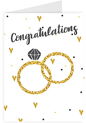 Greeting card Congratulations - Engagement