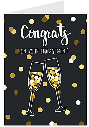 Greeting card Congrats on your engagement
