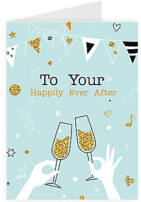 Greeting card To your happily ever after