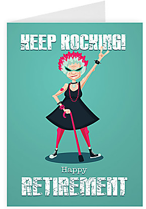 Greeting card Keep Rocking