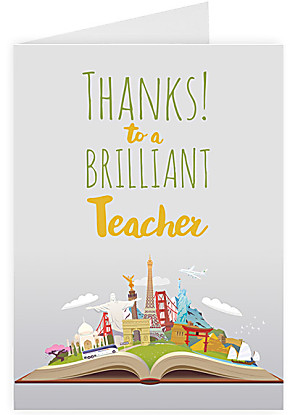 Greeting card Thanks to a brilliant teacher