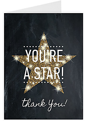 Greeting card You are a Star