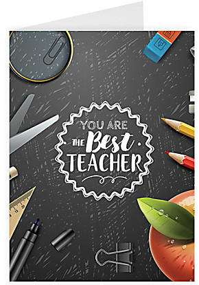 Greeting card You are the best teacher