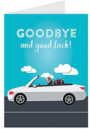 Greeting card Goodbye and good luck