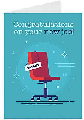 Greeting card Congratulations on your new job