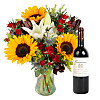 Floral Harvest with Red Wine