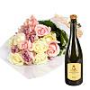 20 Luxury Pastel Roses with Prosecco
