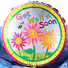 Get Well Soon Flowers Balloon Gift
