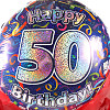 50th Birthday Balloon Gift