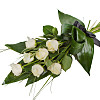 Elegant White Rose Sheaf