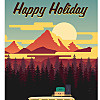 Happy Holiday - retro