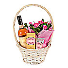 Gift Basket with Rose Petal Hand Cream