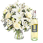 Flower bouquet Peace with White Wine