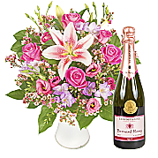 Flower bouquet Mums Surprise with Pink Champagne
