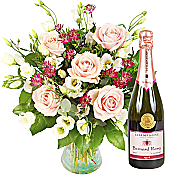 Flower bouquet Bella with Pink Champagne