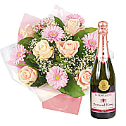 Flower bouquet Peach Beauty with Pink Champagne