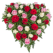 Flower bouquet Rose Trio Heart