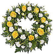 Flower bouquet Classic Yellow Wreath