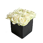 Flower bouquet White Roses Cube - Funeral