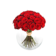 Flower bouquet Mass of Red Roses