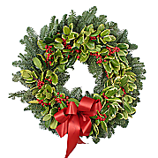 Flower bouquet Holly Wreath