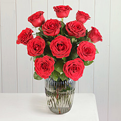 Flower bouquet A Dozen Red Roses Giftwrap