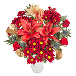 Flower bouquet Merry Christmas