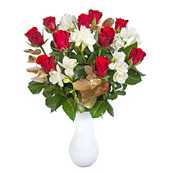 Flower bouquet Christmas Rose and Freesia