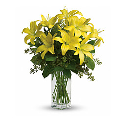 Flower bouquet Lily Sunshine
