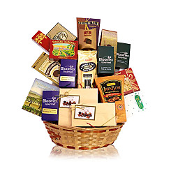 Flower bouquet Rich Tastes Gift Basket