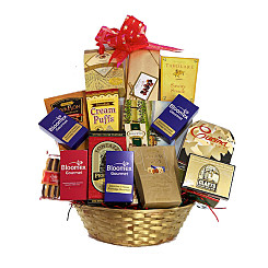Flower bouquet Taste Bud Bliss Gift Basket