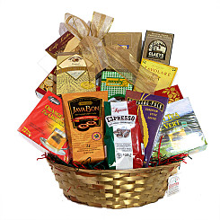Flower bouquet Joy of Java Gift Basket