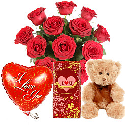 Valentines day gifts delivered free next day flower bouquet valentine gift set negle Gallery