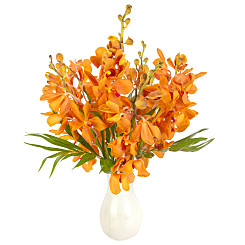 Flower bouquet Orange Mokara Orchids