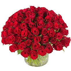 Flower bouquet 100 roses rouges