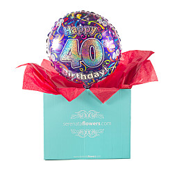 Gift delivery 40th Birthday Balloon Gift