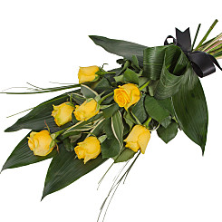 Flower bouquet Elegant Yellow Rose Sheaf