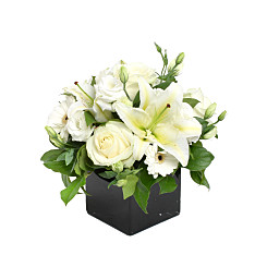 Flower bouquet Pearly White - Funeral