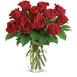 Flower bouquet 12 Long Stem Red Rose Special