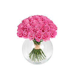 Flower bouquet Mass of Pink Roses