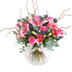 Flower bouquet Tiber Lilies and Roses
